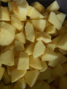 geschnittene Äpfel